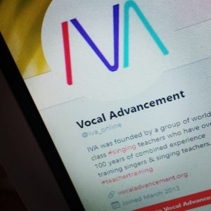 Institute for Vocal Advancement twitter screenshot