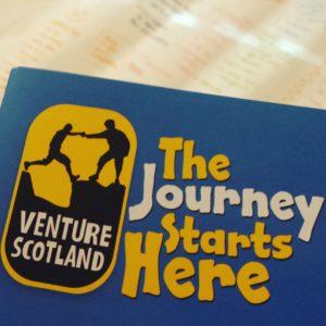 Venture Scotland charity leaflet